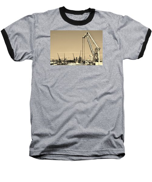 Baseball T-Shirt featuring the photograph Harbor Impression by Werner Lehmann