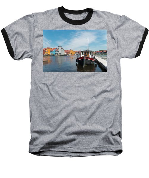 Harbor In Groningen Baseball T-Shirt by Hans Engbers