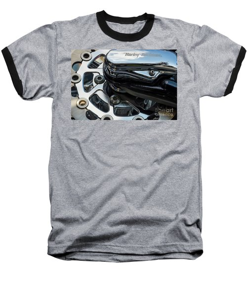Baseball T-Shirt featuring the photograph Harley Davidson 15 by Wendy Wilton