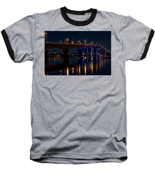 Hathaway Bridge At Night Baseball T-Shirt