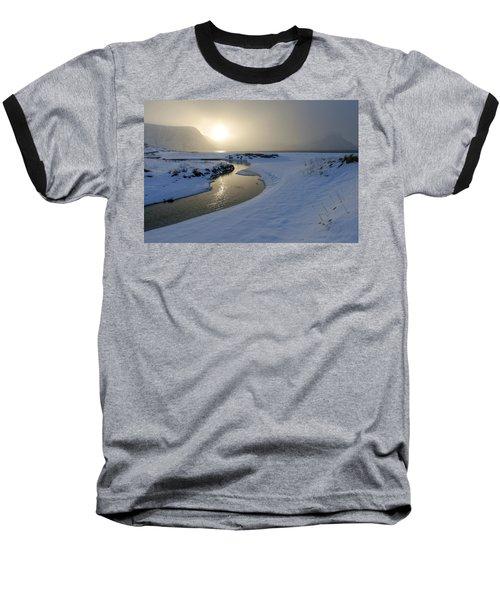 Haukland Beach, Lofoten Baseball T-Shirt by Dubi Roman