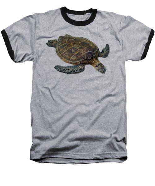 Hawaiian Sea Turtle Baseball T-Shirt by Pamela Walton
