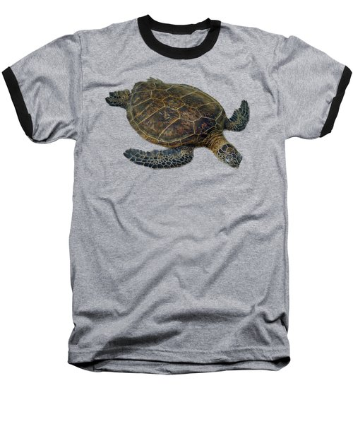 Hawaiian Sea Turtle Baseball T-Shirt
