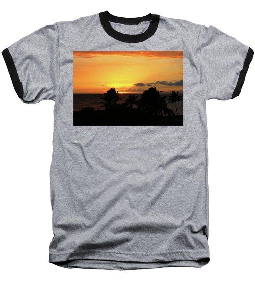 Baseball T-Shirt featuring the photograph Hawaiian Sunset by Anthony Jones