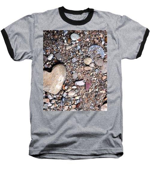 Heart Of Stone Baseball T-Shirt by Danielle R T Haney