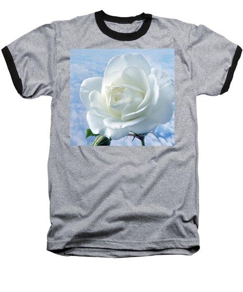 Heavenly White Rose. Baseball T-Shirt