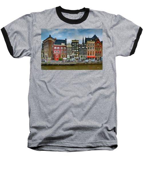 Herengracht 411. Amsterdam Baseball T-Shirt