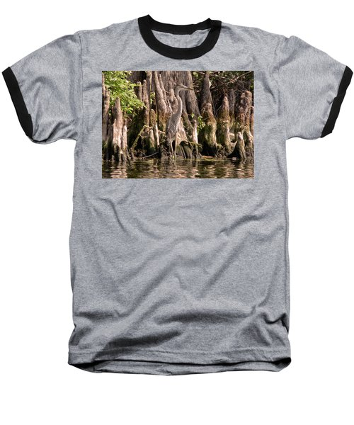 Heron And Cypress Knees Baseball T-Shirt