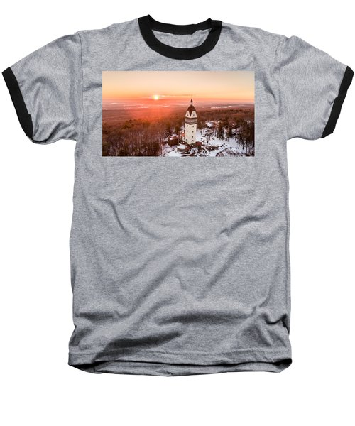 Heublein Tower In Simsbury, Connecticut Baseball T-Shirt by Petr Hejl