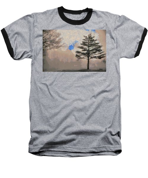 Baseball T-Shirt featuring the mixed media Hickory by Trish Tritz