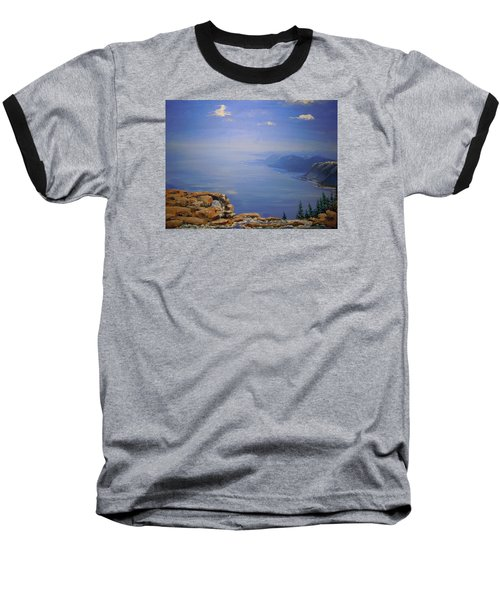 Baseball T-Shirt featuring the painting High Above by Dan Whittemore