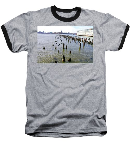 High Line Print 9 Baseball T-Shirt by Terry Wallace