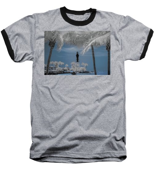 Baseball T-Shirt featuring the photograph Hillsboro Inlet Lighthouse by Louis Ferreira