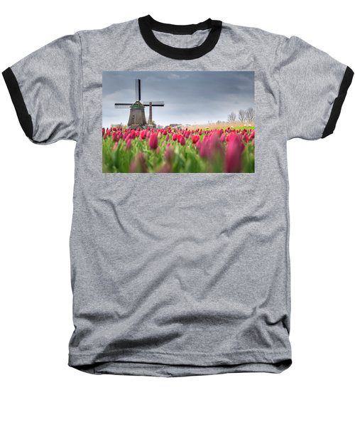Holland Windmill Baseball T-Shirt