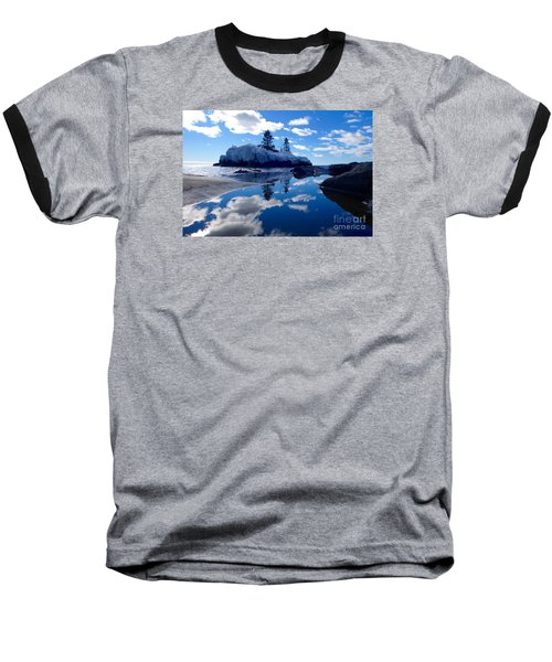 Hollow Rock Reflections Baseball T-Shirt by Sandra Updyke