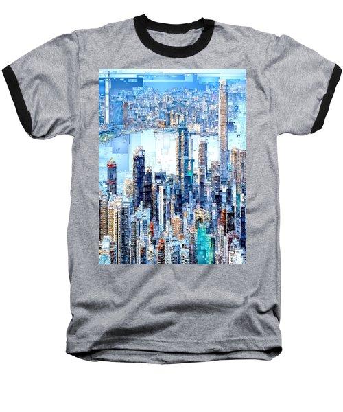 Hong Kong Skyline Baseball T-Shirt