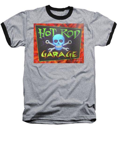 Hot Rod Garage Baseball T-Shirt