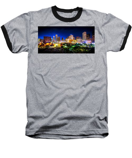 Baseball T-Shirt featuring the photograph Houston City Lights by David Morefield