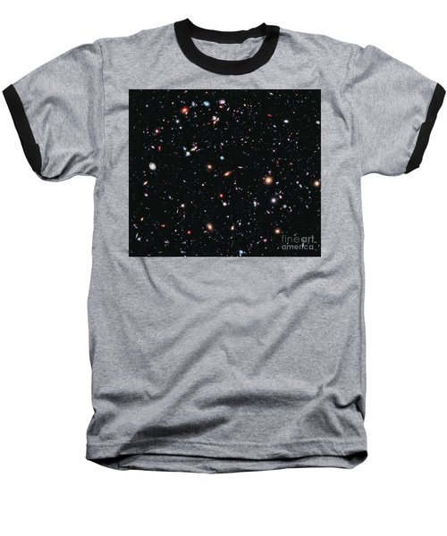 Hubble Extreme Deep Field Baseball T-Shirt