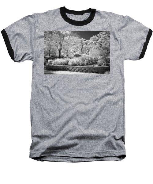 White Forrest Baseball T-Shirt by Denis Lemay