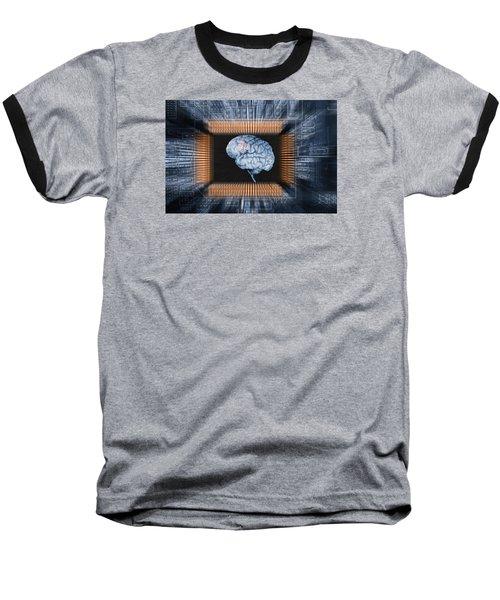 Human Brain And Communication Baseball T-Shirt