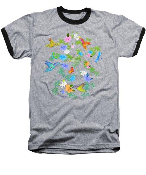 Hummingbird Spring Baseball T-Shirt by Teresa Ascone