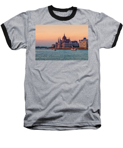 Hungarian Parliament Building In Budapest, Hungary Baseball T-Shirt
