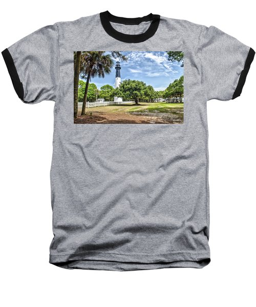Hunting Island Lighthouse Baseball T-Shirt by Scott Hansen