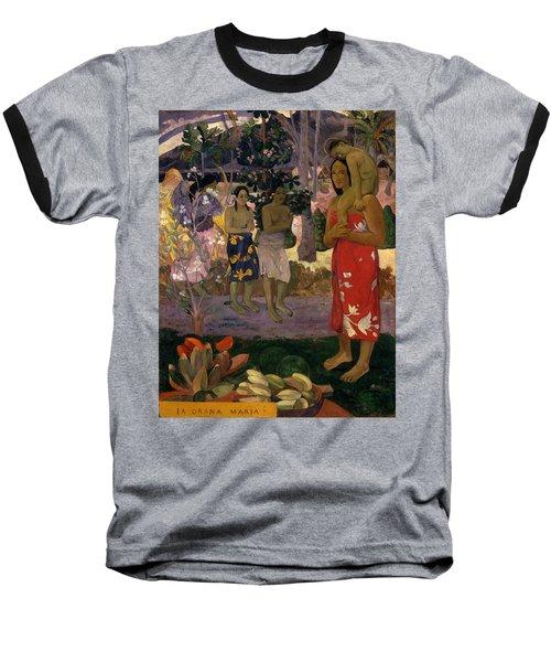 Ia Orana Maria Hail Mary Baseball T-Shirt
