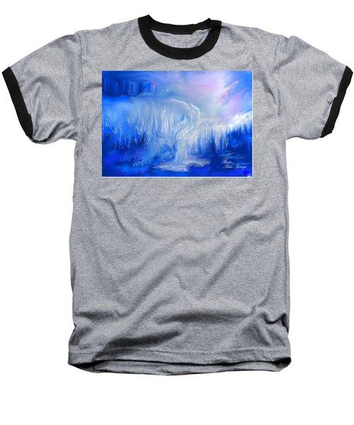 Ice Falls Baseball T-Shirt by Sherri's Of Palm Springs
