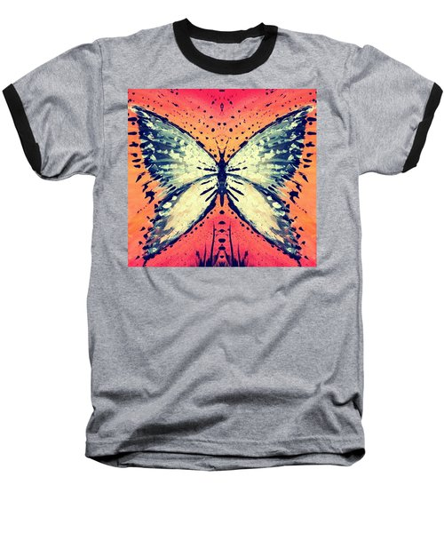 Baseball T-Shirt featuring the painting In Flight by 'REA' Gallery