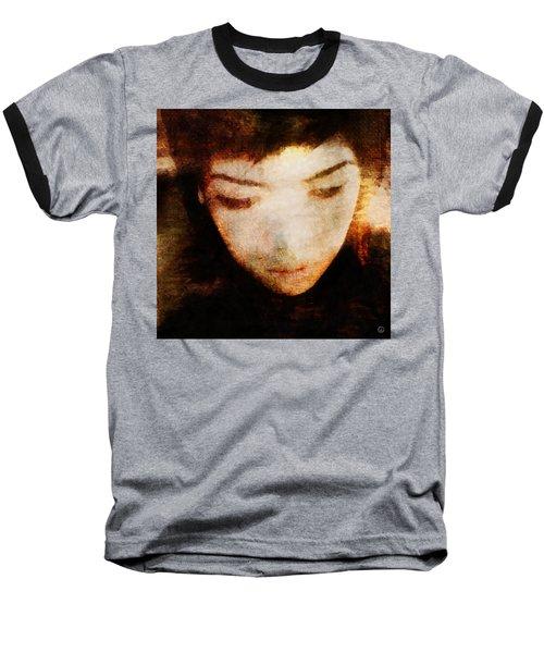 In Thoughts Baseball T-Shirt by Gun Legler