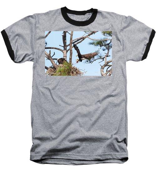 Baseball T-Shirt featuring the photograph Incoming Food by Deborah Benoit