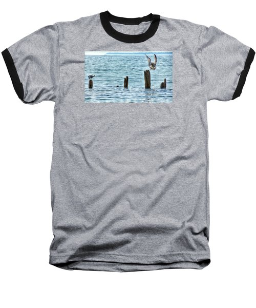 Baseball T-Shirt featuring the photograph Incoming by Nikki McInnes