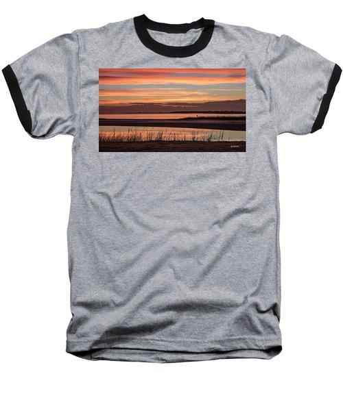 Inlet Watch Sunrise Baseball T-Shirt by Phil Mancuso