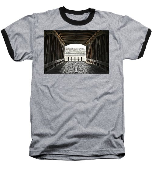 Inside The Covered Bridge Baseball T-Shirt