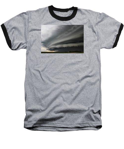 Intense Shelf Cloud Baseball T-Shirt