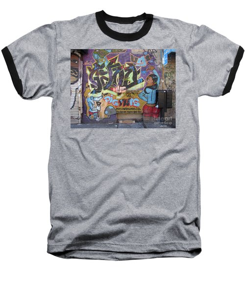 Inwood Graffiti  Baseball T-Shirt by Cole Thompson