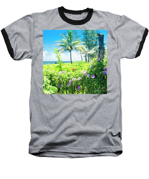 Ipomoea Keanae Morning Glory Maui Hawaii Baseball T-Shirt by Sharon Mau