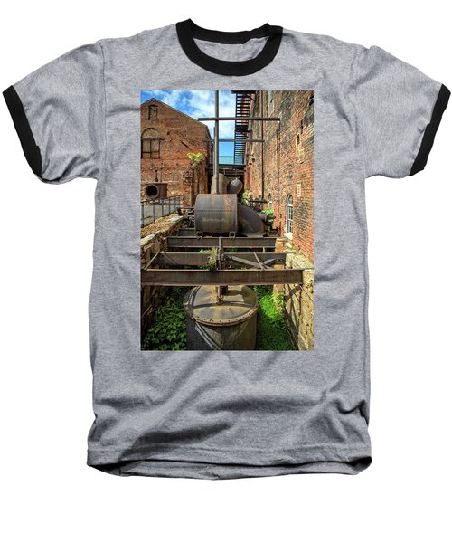 Baseball T-Shirt featuring the photograph Ironworks by Alan Raasch