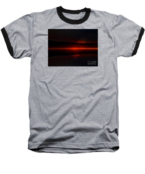 Island Fog Sunrise Baseball T-Shirt