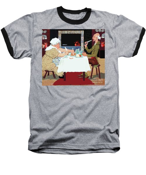 Vintage Jack Sprat Mother Goose Nursery Rhyme Baseball T-Shirt