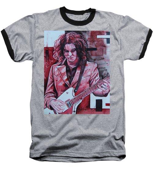 Baseball T-Shirt featuring the drawing Jack White by Joshua Morton
