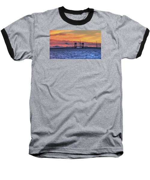 James River Bridge Baseball T-Shirt by Jerry Gammon