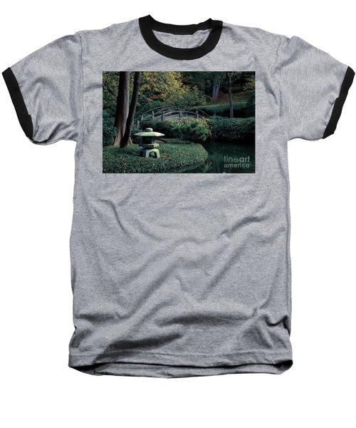 Baseball T-Shirt featuring the photograph Japanese Garden In Summer by Iris Greenwell