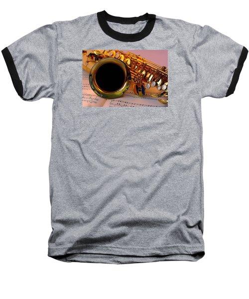 Jazz Saxaphone Baseball T-Shirt