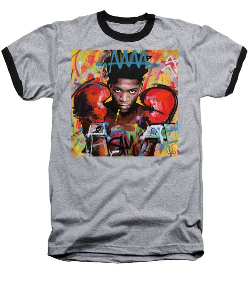 Jean Michel Basquiat Baseball T-Shirt by Richard Day