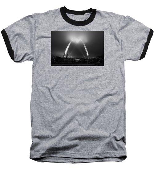 Jefferson Expansion Memorial Gateway Arch Baseball T-Shirt by Matthew Chapman