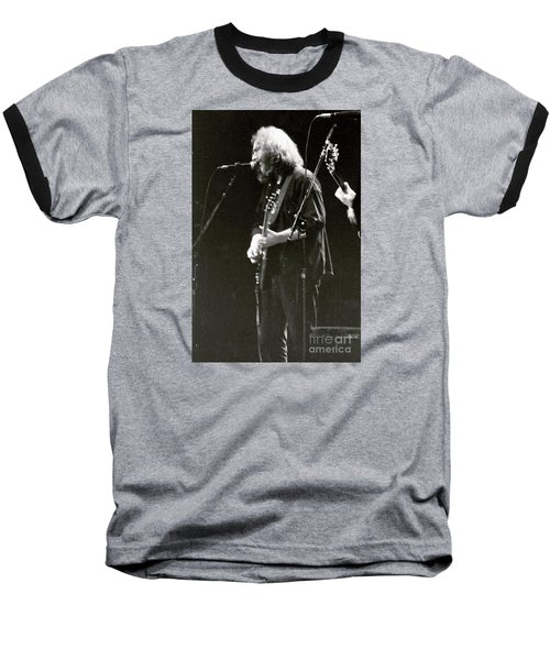 Baseball T-Shirt featuring the photograph Grateful Dead - Jerry Garcia - Celebrities by Susan Carella