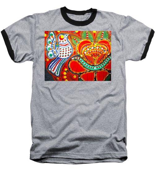 Jinga Bird Baseball T-Shirt
